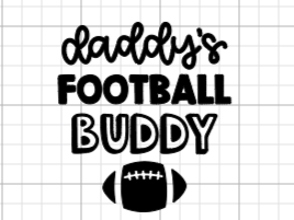 Daddy's Football Buddy Decal Add-On