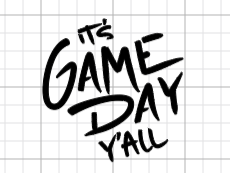 It's Gameday Y'all Decal Add-On