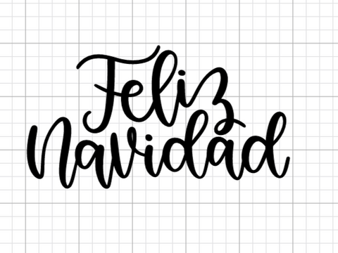 Feliz Navidad Decal Add-On