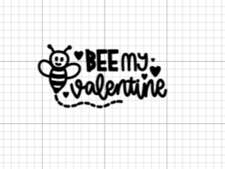 Bee My Valentine Decal Add-On