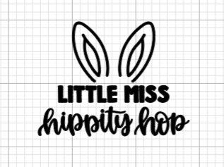 Little Miss Hippity Hop Decal Add-On