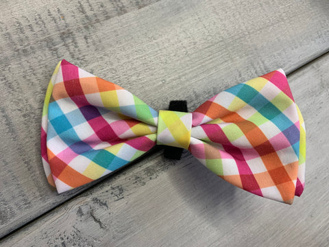 Yellow/Orange Check Bow Tie