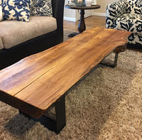"U-Shape River Coffee Table Leg (SINGLE) (3"" Wide - 1/4"" Thick) (Multiple Sizes Available)"