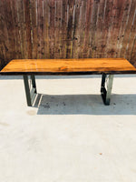 "U-Shape River Table Bench Leg (SINGLE) (3"" Wide - 1/4"" Thick) (Multiple Sizes Available) OPTION #3"
