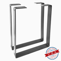 "2 Pack - U Shape 1.5"" Metal Bench Legs (Multiple Sizes Available)"
