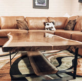 "2 Pack- Square River Coffee Table Leg (3"" Wide - 1/4"" Thick) (Multiple Sizes Available) OPTION #2"
