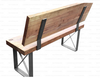 "2 Pack - Square Table Bench Legs (3"" Wide - 1/4"" Thick) (Multiple Sizes Available) OPTION #1"