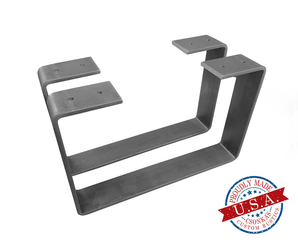 "2 Pack - U Shape 1.5"" Metal Coffee Table Legs (Multiple Sizes Available)"