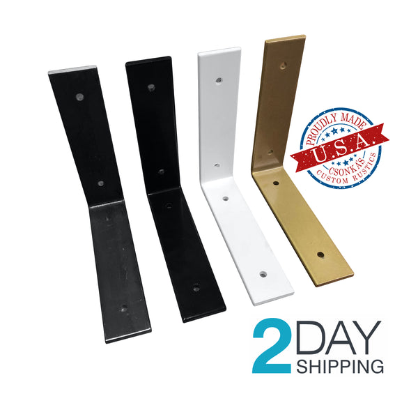 Color Angle Shelf Brackets (Multiple Sizes Available)