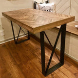 "2 Pack - Square Side Bar Table Leg (2"" Wide - 1/4"" Thick) (Multiple Sizes Available) OPTION #1"