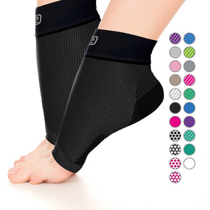 GO2 Ankle Compression Sleeve for Plantar Fasciitis | High Compression Level | Increase Circulation, Improve Performance, Faster Recovery, Reduce Soreness