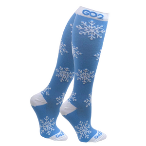 Holiday Compression Socks Unisex | Snowflake