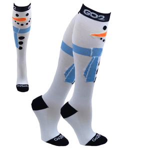 Holiday Compression Socks Unisex | Snowman