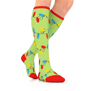 GO2 Holiday Compression Socks | Medium Compression Level | Increase Circulation, Improve Performance, Faster Recovery, Reduce Soreness