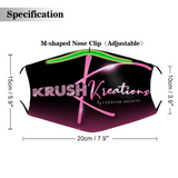 Krush Kreations Logo Face Mask