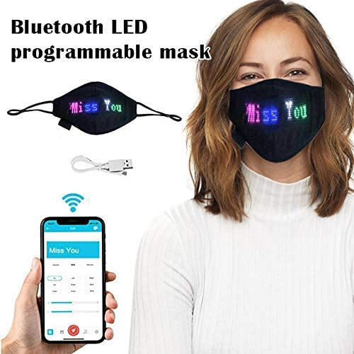 KK Bluetooth LED Light-Emitting Programmable Face Mask