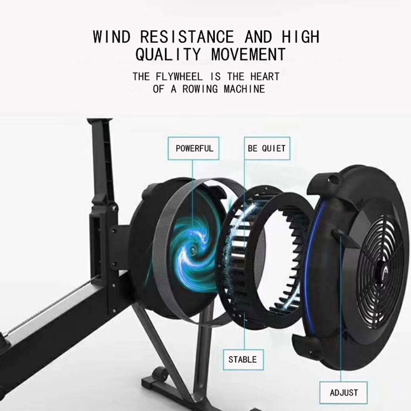 Foldable Magnetic Rowing Machine With Led Display