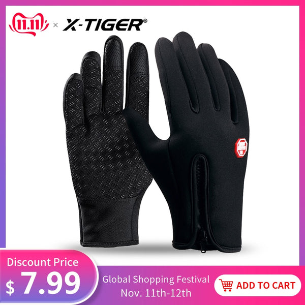 Pro Winter Waterproof Cycling Gloves Fingers Touch Screen Bike Gloves Windproof Sport MTB Road Full Finger Bicycle Gloves