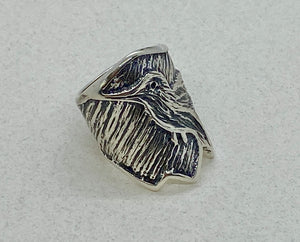 Tufa Cast Sterling Silver Ring.