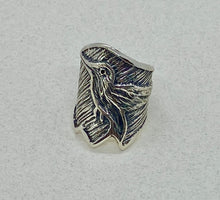 Load image into Gallery viewer, Tufa Cast Sterling Silver Ring.