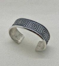 Load image into Gallery viewer, Tufa Cast Sterling Silver Bracelet