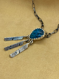 "Fabricated Sterling Silver ""3 Eagle Feather"" Pendant"
