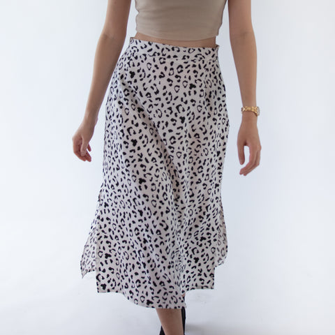 GLOBAL MOOD Leopard Skirt