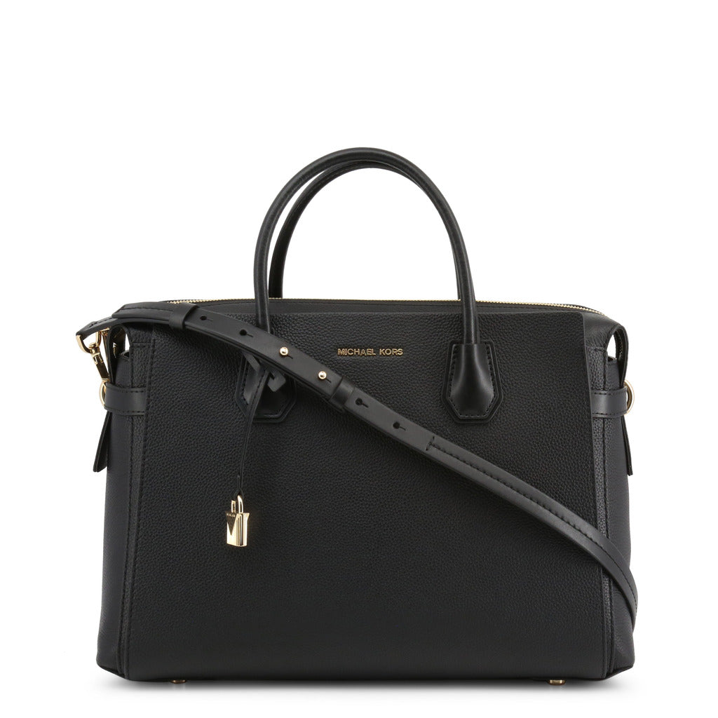 Michael Kors - Mercer Large Pebbled Leather Belted Satchel