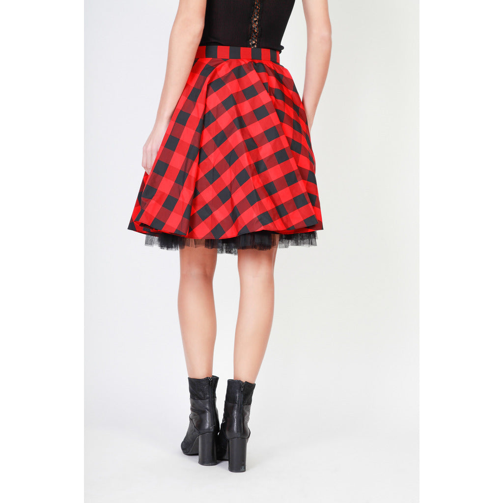 Pinko - RED PLAID SKIRT
