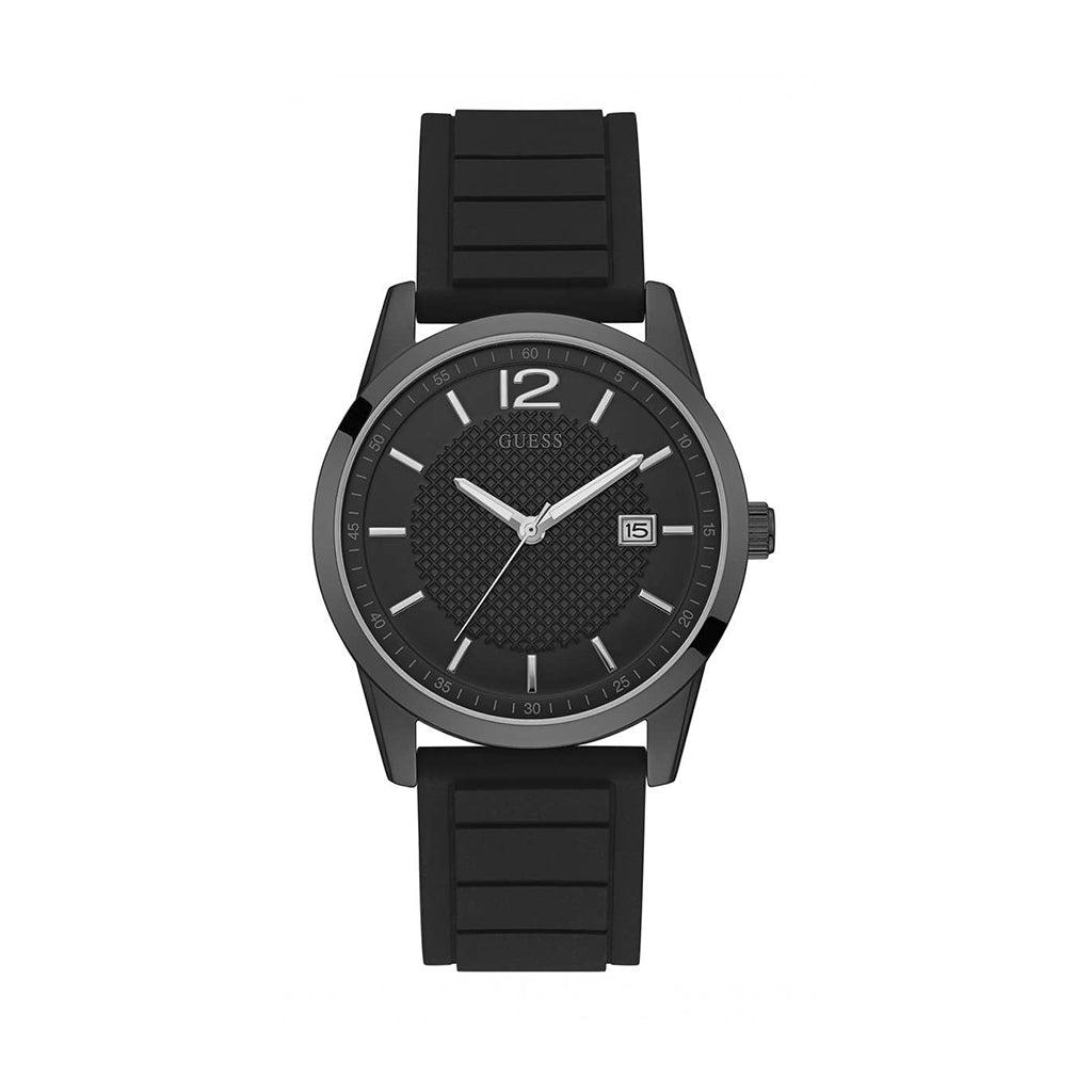 Guess - Men's Black Steel Watch