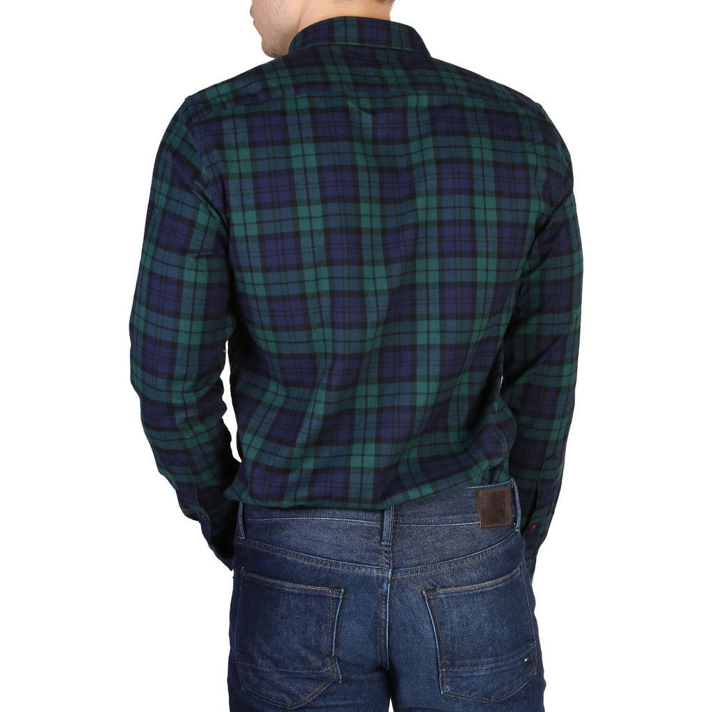 Tommy Hilfiger - GREEN PLAID DRESS SHIRT