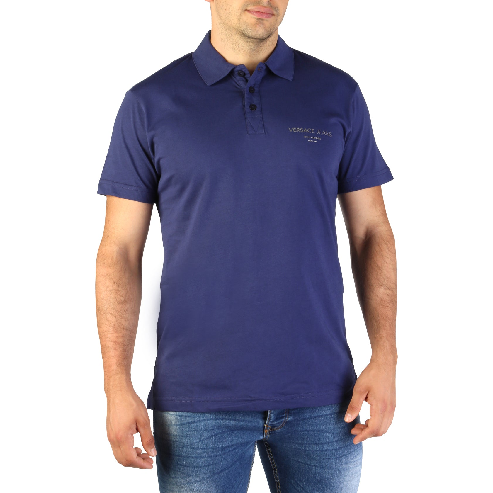 Versace Jeans - Gold Chest Logo Polo