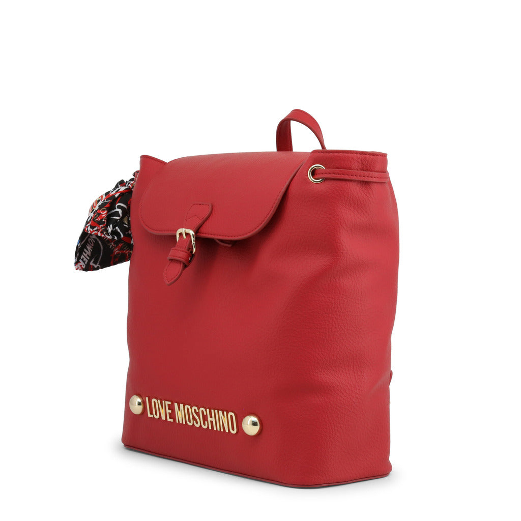Love Moschino - RED DRAWSTRING BACKPACK PURSE