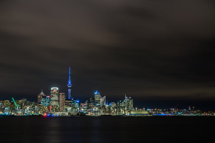 Auckland City Night Skyline