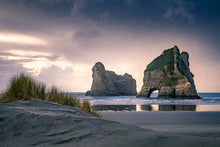 Load image into Gallery viewer, Moody sunset Wharariki Beach
