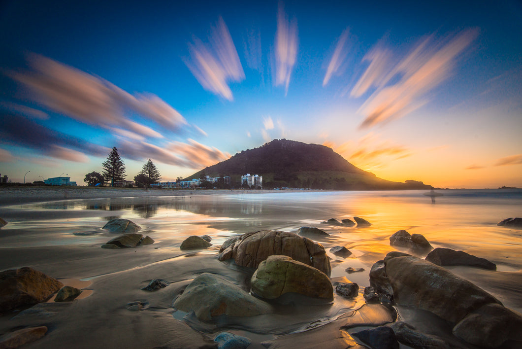 Mount Maunganui Sunset Exclamation