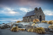 Load image into Gallery viewer, Tekapo Church Moody Morning