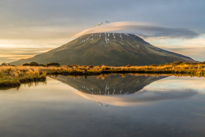 Mount Taranaki Tarn Reflection