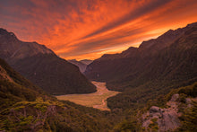 Load image into Gallery viewer, Routeburn Valley Sunrise Fire