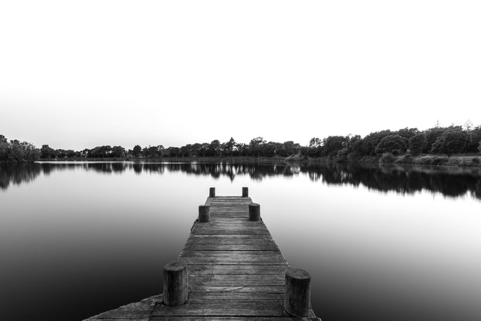 Lake Rotomanu Black & White