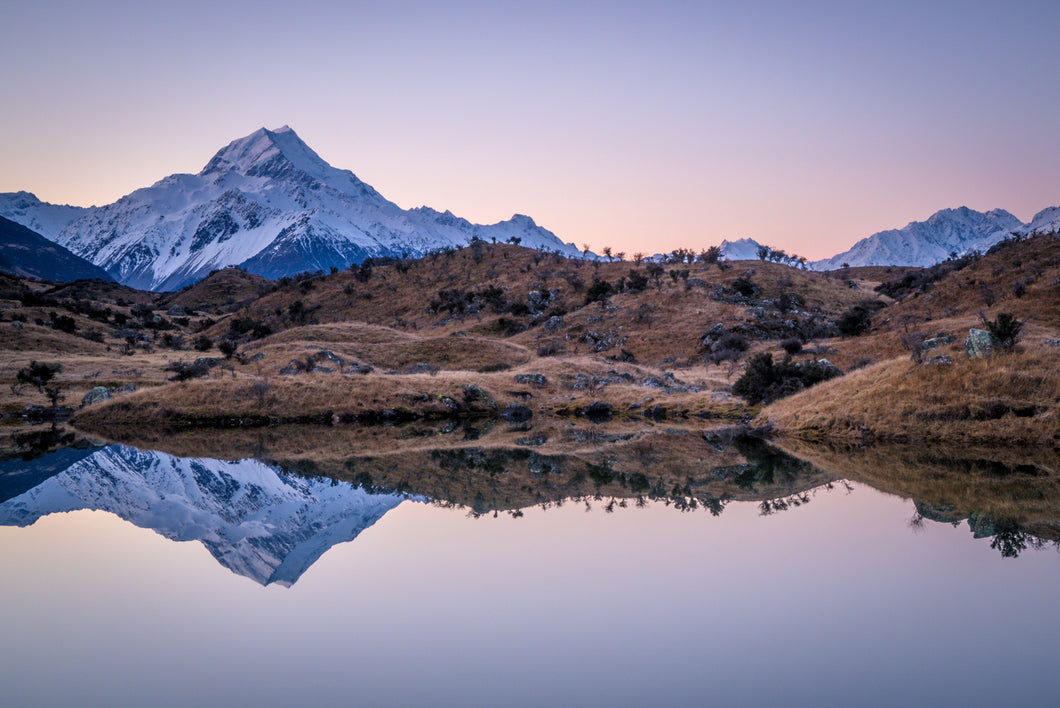 Mt Cook Tarn Reflection