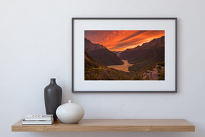 Routeburn Valley Sunrise Fire
