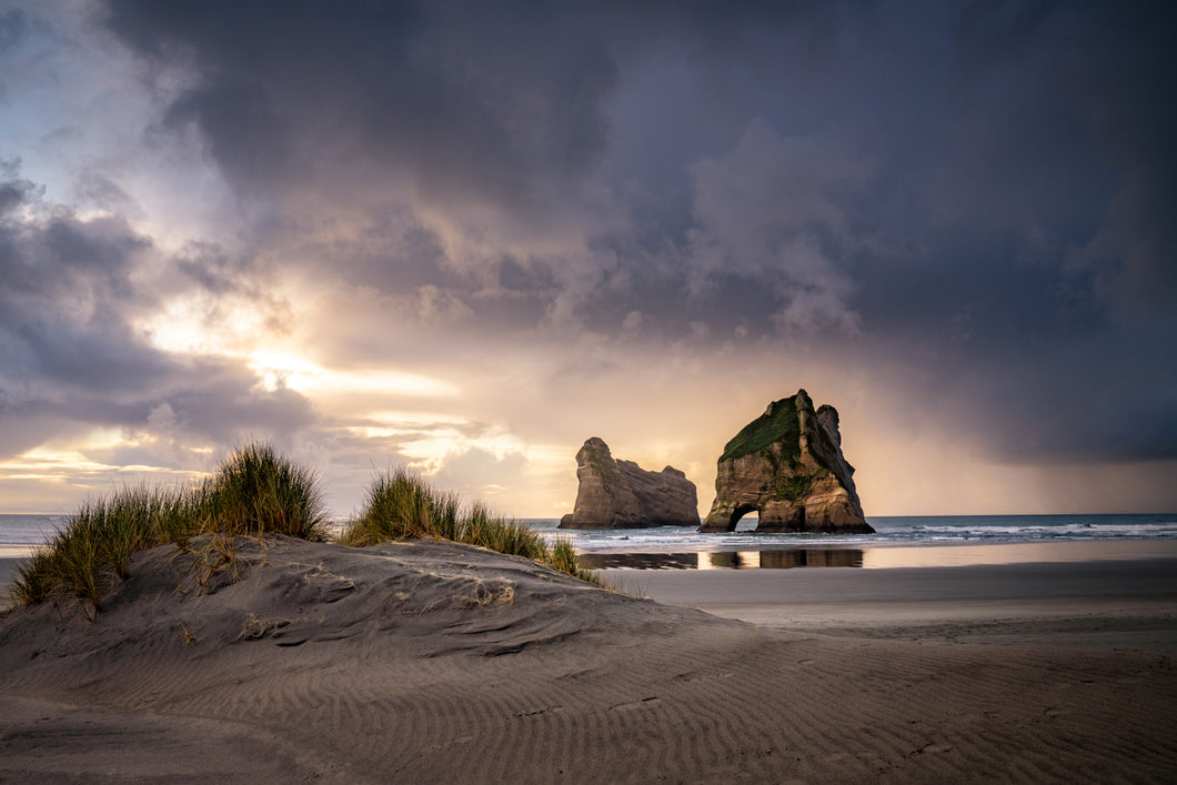 Wharariki Beach Sunset Mood