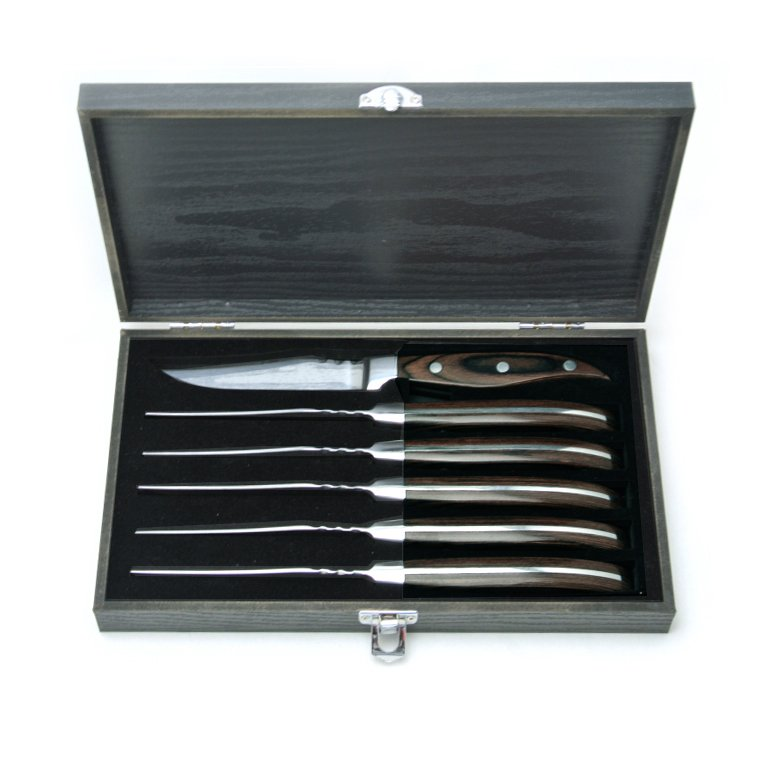 Espresso Steak Knife Set of 6