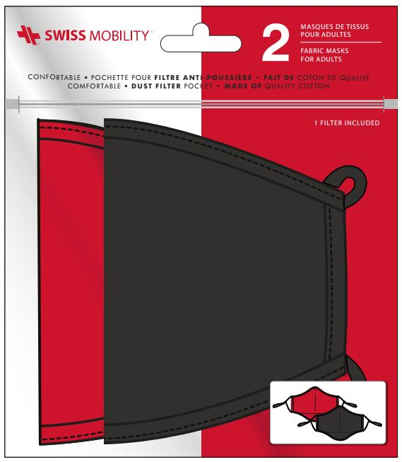 Swiss Mobilty Face Covers  Pack of 2