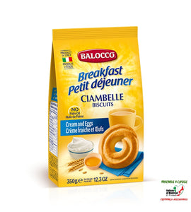 Balocco Dry Biscuits 350 Gram Italian Import Food