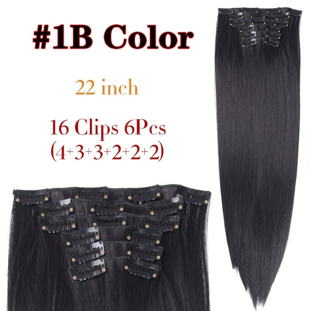 LONG STRAIGHT SYNTHETIC HAIR EXTENSIONS | CLASSIC STYLE EXTENSIONS