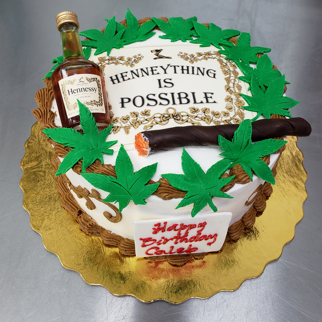Hennything Is Possible Cake