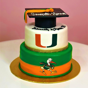 Logo with Cap Graduation Cake