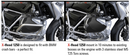 BMW R1250 GS, GSA, RT, R, and RS MaMo cylinder guards